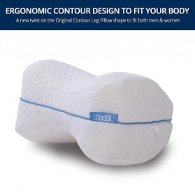 Beautrip Bantal Tidur Kaki Memory Foam for Back Hip Legs & Knee Support Wedge  - G90531 - White - 4