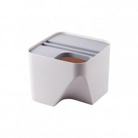 BAFFECT Tempat Sampah Susun Dapur Rumah Rubbish Bin Kitchen Trash Small - HBFC0194 - White