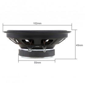 LaBo Speaker Subwoofer Mobil HiFi 4 Inch 60W 2 PCS - LB-PS1401D - Black - 6