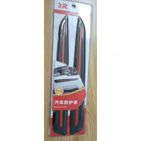 WRC Stiker Bumper Mobil Scratch Protection Decoration Strips - 3R-2144 - Black - 8