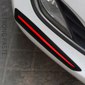 WRC Stiker Bumper Mobil Scratch Protection Decoration Strips - 3R-2144 - Black - 3