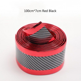 Karlor Stiker Vinyl Mobil Rubber Strip Car Bumper Edge Guard 7 x 100 CM - YSB190 - Red/Black