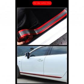 Karlor Stiker Vinyl Mobil Rubber Strip Car Bumper Edge Guard 5 x 100 CM - YSB190 - Red/Black - 10