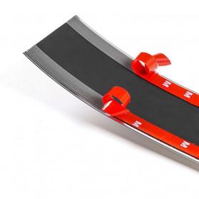 Karlor Stiker Vinyl Mobil Rubber Strip Car Bumper Edge Guard 5 x 100 CM - YSB190 - Red/Black - 12
