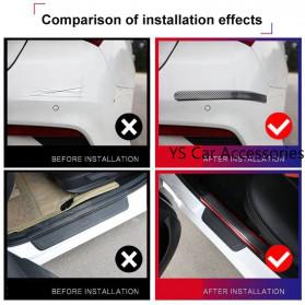 Karlor Stiker Vinyl Mobil Rubber Strip Car Bumper Edge Guard 5 x 100 CM - YSB190 - Red/Black - 4