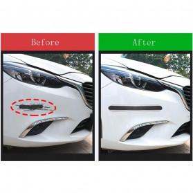 Karlor Stiker Vinyl Mobil Rubber Strip Car Bumper Edge Guard 5 x 100 CM - YSB190 - Red/Black - 8