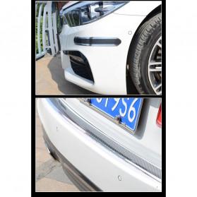 Karlor Stiker Vinyl Mobil Rubber Strip Car Bumper Edge Guard 5 x 100 CM - YSB190 - Red/Black - 9