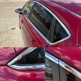 QEEPY Lis Dekorasi Interior Eksterior Mobil Moulding Chrome Trim Strip 6mmx15M - C3578 - Silver - 6