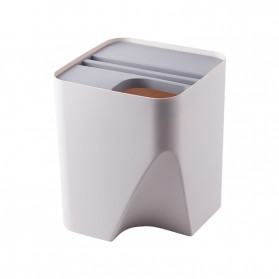 BAFFECT Tempat Sampah Susun Dapur Rumah Rubbish Bin Kitchen Trash Large - HBFC0194 - White