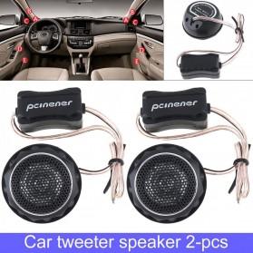 PCINENER Speaker Mini Dome Tweeter Loudspeaker Mobil HiFi 150W 2 PCS - TS-T280 - Black