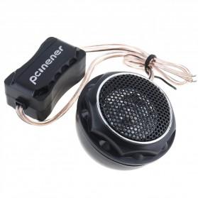 PCINENER Speaker Mini Dome Tweeter Loudspeaker Mobil HiFi 150W 2 PCS - TS-T280 - Black - 4