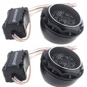 PCINENER Speaker Mini Dome Tweeter Loudspeaker Mobil HiFi 150W 2 PCS - TS-T280 - Black - 7