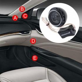PCINENER Speaker Mini Dome Tweeter Loudspeaker Mobil HiFi 150W 2 PCS - TS-T280 - Black - 8