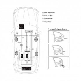 PCINENER Speaker Mini Dome Tweeter Loudspeaker Mobil HiFi 150W 2 PCS - TS-T280 - Black - 9