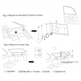 PCINENER Speaker Mini Dome Tweeter Loudspeaker Mobil HiFi 150W 2 PCS - TS-T280 - Black - 10