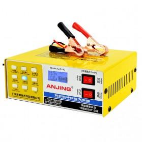 ANJING Charger Aki Mobil Motor 130W 12V/24V 200AH + LCD - AJ-618C - Yellow - 2