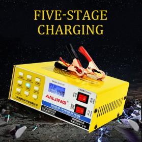 ANJING Charger Aki Mobil Motor 130W 12V/24V 200AH + LCD - AJ-618C - Yellow - 4