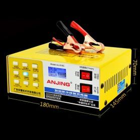 ANJING Charger Aki Mobil Motor 130W 12V/24V 200AH + LCD - AJ-618C - Yellow - 6