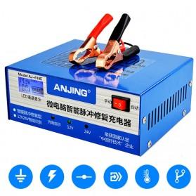 ANJING Charger Aki Mobil Motor 130W 12V/24V 200AH + LCD - AJ-618E - Blue