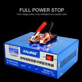 ANJING Charger Aki Mobil Motor 130W 12V/24V 200AH + LCD - AJ-618E - Blue - 5