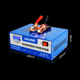 ANJING Charger Aki Mobil Motor 130W 12V/24V 200AH + LCD - AJ-618E - Blue - 6