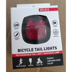Deemount Lampu Sepeda LED Taillight 20 Lumens - DC-116 - Black - 12