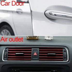 KAHNOS Rubber Strip Dekorasi Pintu Mobil Anti Collision 5M - QW557 - Silver - 9