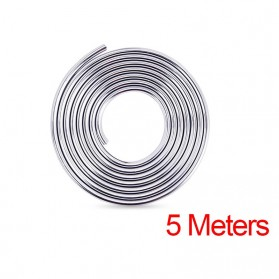 KAHNOS Rubber Strip Dekorasi Pintu Mobil Anti Collision 5M - QW557 - Silver
