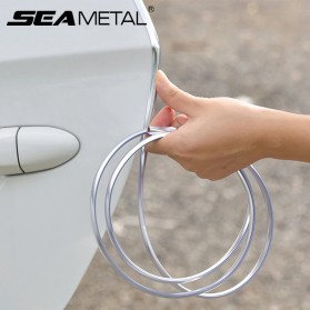 KAHNOS Rubber Strip Dekorasi Pintu Mobil Anti Collision 5M - QW557 - Silver - 4