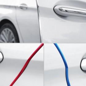 KAHNOS Rubber Strip Dekorasi Pintu Mobil Anti Collision 5M - QW557 - Silver - 7