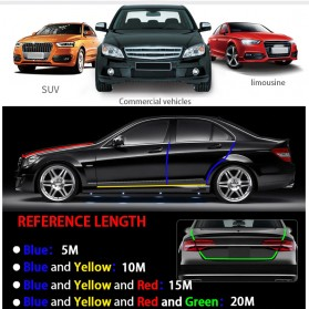 KAHNOS Rubber Strip Dekorasi Pintu Mobil Anti Collision 5M - QW557 - Silver - 8