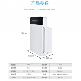 JIAQUAN Pembersih Ion Udara Air Purifier Cleaner PM2.5 - K1-1 - White - 8