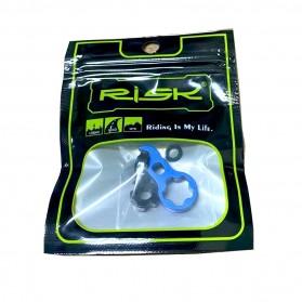 RISK Mur Ban Sepeda Presta Valve Nut Tubeless Tire Cap Aluminium - RA111 - Blue - 10