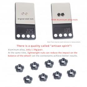 RISK Mur Ban Sepeda Presta Valve Nut Tubeless Tire Cap Aluminium - RA111 - Blue - 6