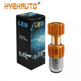 HYZHAUTO Lampu Motor H6 Headlight LED BA20D 2000LM 6500K 1 PCS - Golden - 1