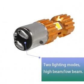 HYZHAUTO Lampu Motor H6 Headlight LED BA20D 2000LM 6500K 1 PCS - Golden - 5