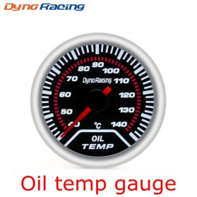 Dynoracing Dekorasi Mobil Car Otomotif Decoration Oil Temperature Gauge - Q195 - Black