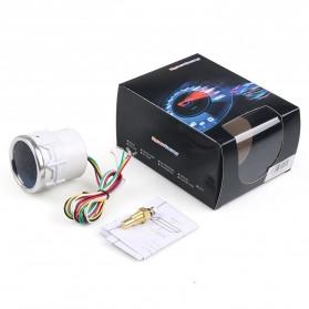 Dynoracing Dekorasi Mobil Car Otomotif Decoration Oil Temperature Gauge - Q195 - Black - 2