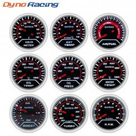 Dynoracing Dekorasi Mobil Car Otomotif Decoration Oil Temperature Gauge - Q195 - Black - 3