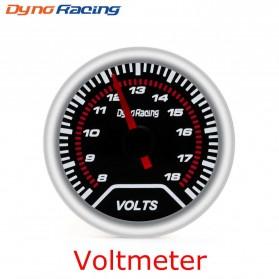 Dynoracing Dekorasi Mobil Car Otomotif Decoration Voltmeter - Q195 - Black