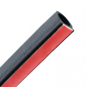 SRIMXS Rubber Strip Door Seal Epdm Pintu Mobil D Type Car 2M 1.5 x 1.5cm - SD-2080 - Black - 5
