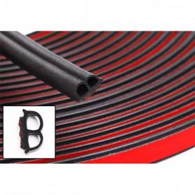 LARATH Rubber Strip Door Seal Pintu Mobil EPDM B Pillar Type Car 2PCS - LI-B2 - Black