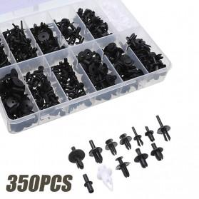 SUGERYY Baut Rivet Mobil Universal Car Push Pin Fasteners Clip 350 PCS - Black