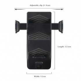 ANLOOK 4 in 1 Lampu Sepeda Smartphone Holder + Power Bank 2000mAh + Klakson - AN04 - Black - 10