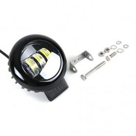 XuanBa Lampu Mobil ATV SUV Truck LED 6D Lens 4 Inch 30W Round Design - X6 - Black