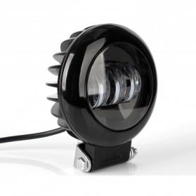 XuanBa Lampu Mobil ATV SUV Truck LED 6D Lens 4 Inch 30W Round Design - X6 - Black - 2