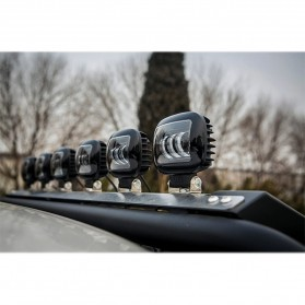XuanBa Lampu Mobil ATV SUV Truck LED 6D Lens 4 Inch 30W Round Design - X6 - Black - 10