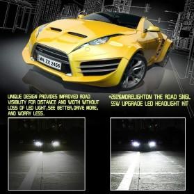 Roadsun S7 Lampu Mobil Headlight Auto Bulb Light LED H7 COB 12V 60W 6000K 12000LM 2 PCS - Black/Gray - 4