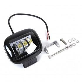 XuanBa Lampu Mobil ATV SUV Truck LED 6D Lens 4 Inch 30W Rectangle Design - X6 - Black