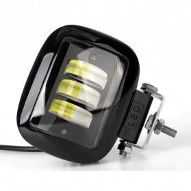 XuanBa Lampu Mobil ATV SUV Truck LED 6D Lens 4 Inch 30W Rectangle Design - X6 - Black - 2